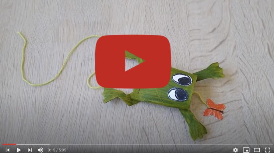 Frø og sommerfugl af toiletrullerør